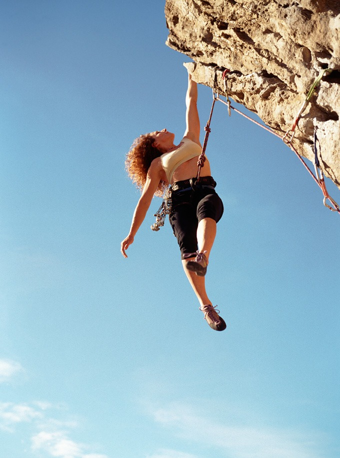 Hanging off Cliff
