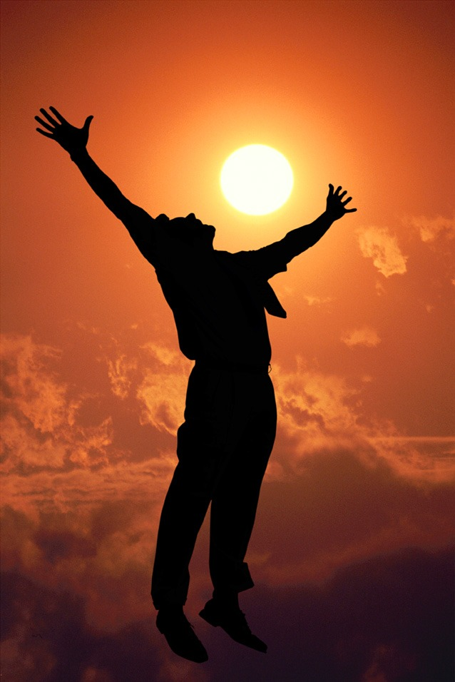 Joy Silhouette outstretched arms